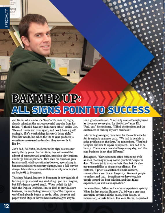 "Check out the ""Your Resource for Living"" Article on Banner Up Signs - Page 12."